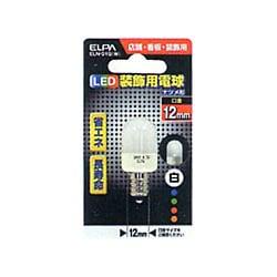 ELN-01B(W) [LED電球 E12口金 ホワイト]