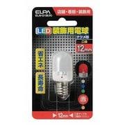 ELN-01B(R) [LED電球 E12口金 レッド]