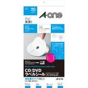 29163 [CD/DVDラベルシール 強粘着タイプ マット紙・ホワイト A4判変型 2面 内径・小 10シート]