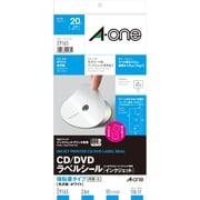 29165 [CD/DVDラベルシール インクジェットプリンタ用 強粘着タイプ 光沢紙・ホワイト A4判変型 2面 内径・小 10シート]