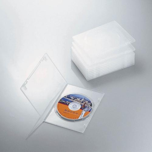 CCD-DVDS03CR [スリムDVDトールケース 1枚収納 クリアー 10ケース入り]
