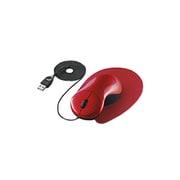 EAM-UD1R [USB・PS/2接続 光学式マウス ワイヤータイプ ザ・フィットマウス(手の匠) レッド]