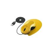 EAM-UD1Y [USB・PS/2接続 ザ・フィットマウス「手の匠」 ワイヤータイプ イエロー]