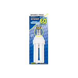 EFD15ED13E17 [電球形蛍光灯 E17口金 60W電球タイプ (昼光色) ルピカボールE D15形]