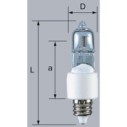 J12V75W-EZS/M [白熱電球 ハロゲンランプ EZ10口金 12V 75W]