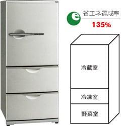 冷蔵庫(255L・右開き) SR-261J-S(ピュアシルバー)