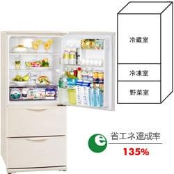 冷蔵庫(255L・右開き) SR-261J-C(ライトベージュ)