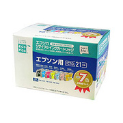 ECI-E217P/BOX [エプソン IC7CL21 互換リサイクルインクカートリッジ 7色パック]