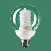 電球形蛍光灯 EFG15EDG12 パルックボールスパイラル G形ガラスクリア・E26口金(パルックday色) 60W電球タイプ