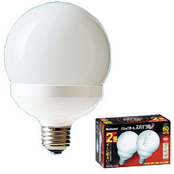 EFG15EL122T [電球形蛍光灯 E26口金 60W電球タイプ (電球色) パルックボールスパイラル G15形 2個入]
