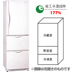 冷蔵庫(365L・左開き)NR-C374ML-W(ブロードホワイト) The ノンフロン冷蔵庫