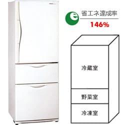 冷蔵庫(320L・右開き)NR-C324M-W(ブロードホワイト) The ノンフロン冷蔵庫