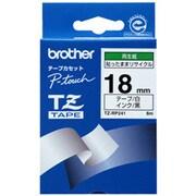 TZ-RP241 [リサイクル紙テープ 白地 黒文字 18mm幅 8m]