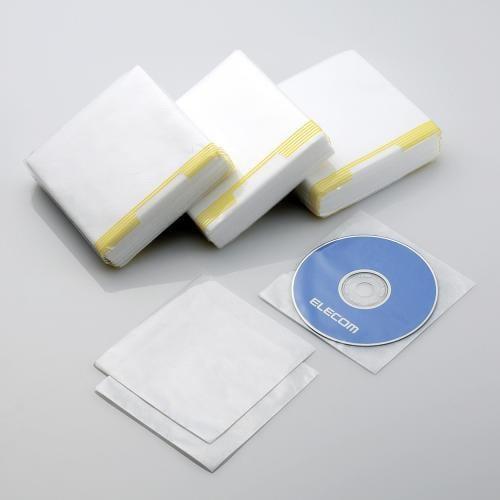 CCD-010LCR [不織布CD/DVDケース クリア・300枚入り]