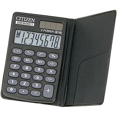 DE8001Q [手帳型電卓 8桁]