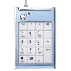 TNK-MU217BL [USBアルミテンキーボード ブルー]