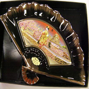 彫金扇 Chokin Folding fan [M-760 白舞妓]