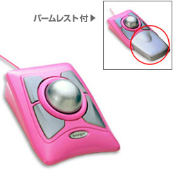 64383 [USB/PS2接続 光学式トラックボールマウス ピンク Expert Mouse Pink]