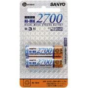 HR-3UG-2BP(W)白-Y [ニッケル水素電池 単3形 2個入 Ni-MH 2700]