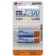 HR-3UG-2BP(L)青-Y [ニッケル水素電池 単3形 2個入 Ni-MH 2700]