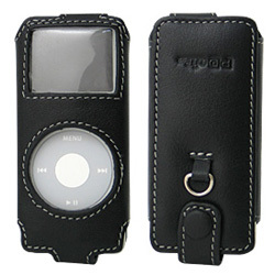 PALCIPDNS/BL(ブラック) [PDAIR Leather Case for iPod nano スリーブタイプ]