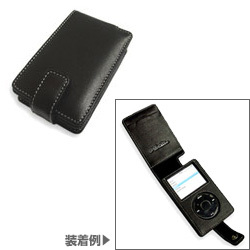PALCIPD5F/BL(ブラック) [PDAIR Leather Case for iPod 5G(30GB/60GB) 縦開きタイプ]
