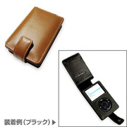 PALCIPD5F/BR [PDAIR Leather Case for iPod5G(30GB/60GB) 縦開きタイプ ブラウン]