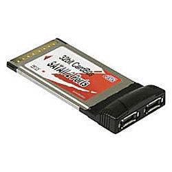 SATAE2-CB [SiliconImage Sil3512搭載 2ポート外付SerialATAインターフェースボード Cardbus接続]