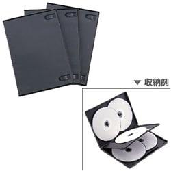 DVD-A007-3BK [DVDケース 1ケース5枚収納可能 3ケースセット ブラック]