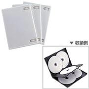 DVD-A007-3W [DVDケース 1ケース5枚収納可能 3ケースセット ホワイト]