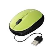 EAM-UMMB2G [USB接続 モバイルマウス(ケーブル巻き取り式) 光学式 グリーン]