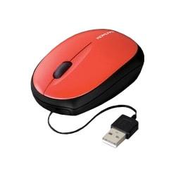 EAM-UMMB2R [USB接続 モバイルマウス(ケーブル巻き取り式) 光学式 レッド]