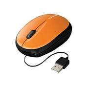 EAM-UMMB2YR [USB接続 モバイルマウス(ケーブル巻き取り式) 光学式 オレンジ]