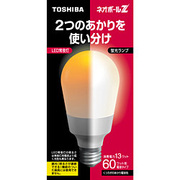 EFA15EL13-N [電球形蛍光灯 E26口金 3波長形電球色 ネオボールZ A15形(13W) 常夜灯機能付]