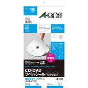 29166 [CD/DVDラベルシール インクジェットプリンタ用 強粘着タイプ 光沢紙・ホワイト A4判変型 2面 内径・小 50シート]