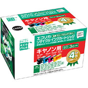 ECI-CA034P/BOX [キヤノン BCI-3E/4MP 互換リサイクルインクカートリッジ 4色パック]