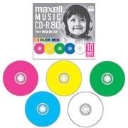 CDRA80MIX.S1P10S [音楽用CD-R 80分 10枚 カラーミックス]