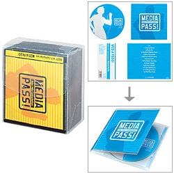 EDC-CM50D [ソフトCD/DVDケース<MEDIA PASS> 1枚収納50セット ブラック]