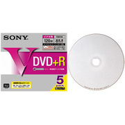 5DPR12HPS [録画用DVD+R 120分 1-8倍速 5枚 インクジェットプリンタ対応]