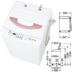 簡易乾燥機能付き洗濯機(7.0kg) ASW-700SA-W(ロゼホワイト)