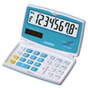 SL-C100A-BU-N [カラフル電卓 折りたたみ手帳タイプ 8桁 ペパーミントブルー]