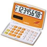 SL-C100A-OE-N [カラフル電卓 折りたたみ手帳タイプ 8桁 キャロットオレンジ]
