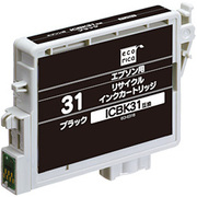 ECI-E31B [エプソン ICBK31 互換リサイクルインクカートリッジ ブラック]
