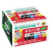 ECI-CAMP500/BOX [キヤノン BCI-7E+9/5MP 互換リサイクルインクカートリッジ 4色パック+9BK互換]