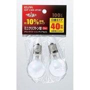 GKP-L36H-2P/W [白熱電球 ミニクリプトン球 E17口金 100V 40W形(36W) 35mm径 ホワイト 2個パック]