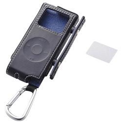 AVD-LCRANN2BK (ブラック) [iPod nano(1st/2nd)用 ソフトレザーケースセット]