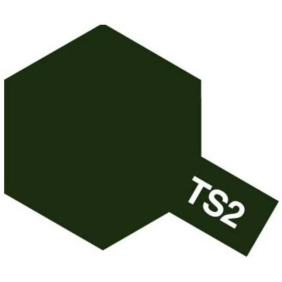 85002 [タミヤカラースプレー TS-2 ダークグリーン つや消し]