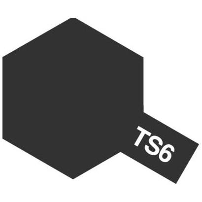 85006 [タミヤカラースプレー TS-6 マットブラック つや消し]