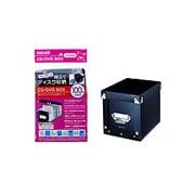 HF30-100BOX(BK) (ブラック) [組立式CD/DVDケース 100枚収納]
