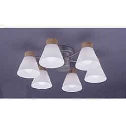 シャンデリア LCR-29613 (8-10畳) ナチュラル色  アーバンウッドシリーズ